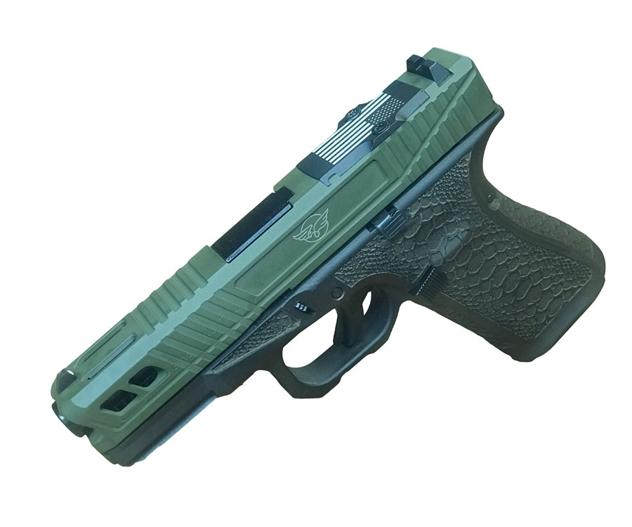 Customized Glock 19 & 23 - solid color Cerakote - Cline Tactical - Left side