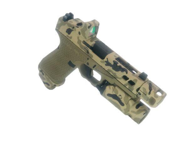 "Cerakote ""Camo"" pattern on pistol"